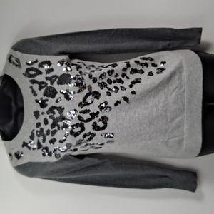 Like New! Express Leopard Cheetah Sweater XS